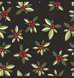 stylized berries on a black background vector image vector image