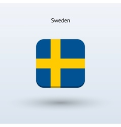 Sweden flag icon vector