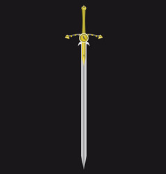 sword of the king vector image vector image