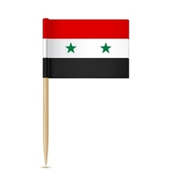 Syria flag toothpick vector image vector image