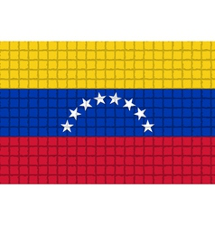 The mosaic flag of Venezuela vector image vector image