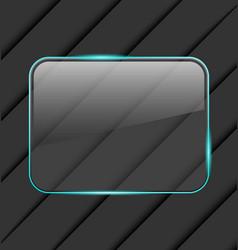 Transparent fragile glass frame vector image vector image