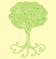 Tree doodles vector