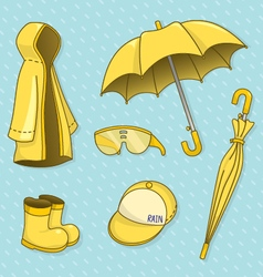 Set of rainy day vector