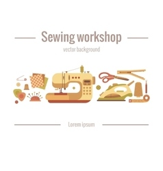 colorful sewing machine vector image