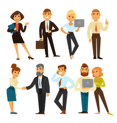 Business people while working time template vector