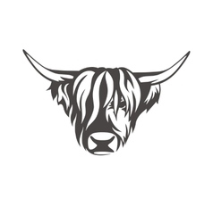 Image of an cow sign for butchers shop vector