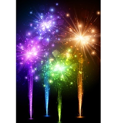 Festive color firework background vector