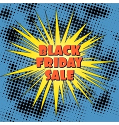 Pop art black friday sale banner vector