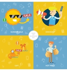 Summer sale discount gift hot price vector