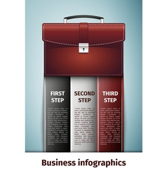 Business infographics icon isolated on blue vector
