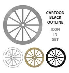 cart-wheel icon cartoon singe western icon from vector image