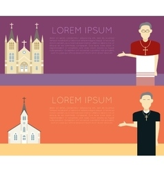 Catholic church vector