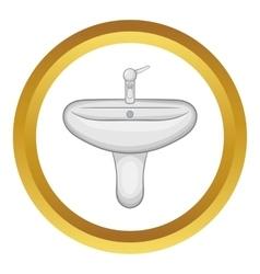 Ceramic sink icon vector