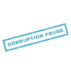 Corruption probe rubber stamp vector