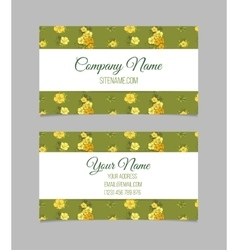 Double-sided floral business card vector