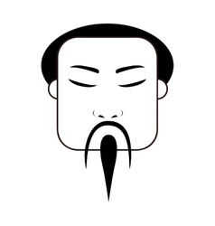 East asian traditional man icon image vector