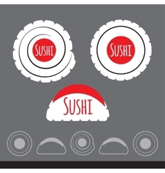 flat sushi icon set Simple design vector image vector image