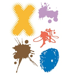 Grunge abstract elements vector