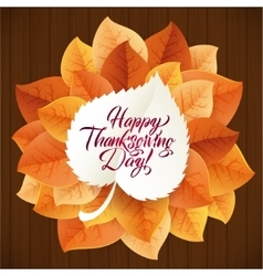 Happy Thanksgiving Day circular ornament made of vector image