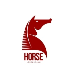 Horse head profile graphic logo template vector