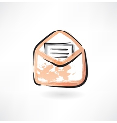 letter in an envelope grunge icon vector image vector image