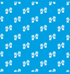 Pair of paintball gloves pattern seamless blue vector