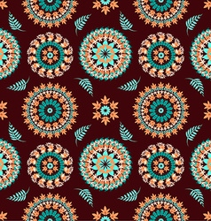 Seamless pattern autumn leaves vector