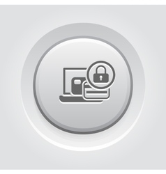 Secure Payment Icon Grey Button Design vector image vector image