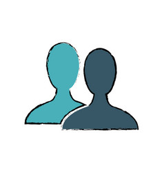 silhouette people avatar social media vector image