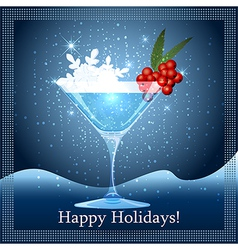 Snowflake cocktail vector image vector image