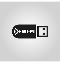 The wifi adapter icon transfer and connection vector
