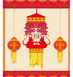 Year of monkey design for chinese new year vector