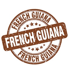 French guiana stamp vector