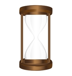 Hourglass time isolated icon vector