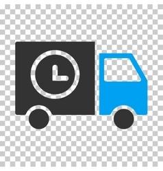 Shipment schedule van eps icon vector