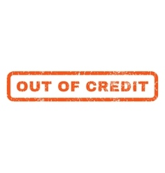 Out of credit rubber stamp vector