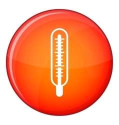 Medical thermometer icon flat style vector