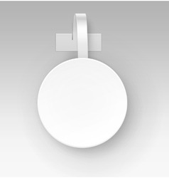 Blank round paper plastic price wobbler front view vector