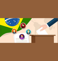 Brazil democracy political process selecting vector