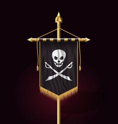 Jolly roger jack pirate flag format vector