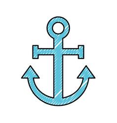 Sail anchor isolated icon vector