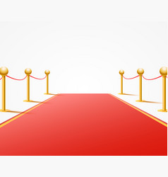 Red event carpet on the white background vector