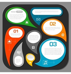 Modern speech bubble layout design - infographics vector