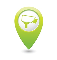 Camera icon green map pointer vector