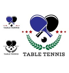 Set of table tennis emblems vector