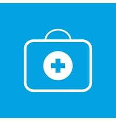 Medic bag white icon vector