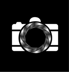 Metallic aperture- photography logo vector