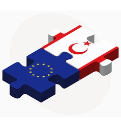 European union and turkish republic of north vector
