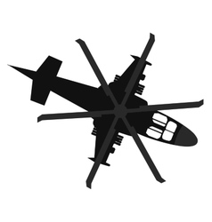 Helicopter icon top view vector